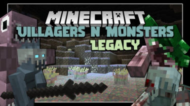 Villagers And Monsters Legacy -  Мир пещер (1.16.5)
